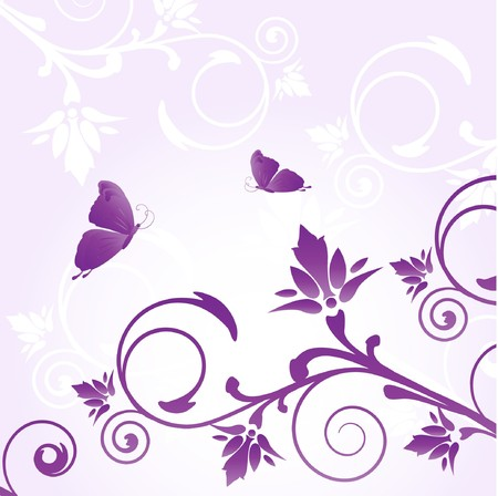 rnart: Violet floral background