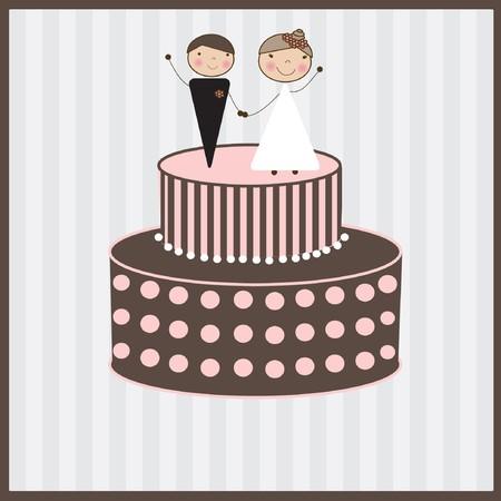 Wedding card  Stock Vector - 7707127