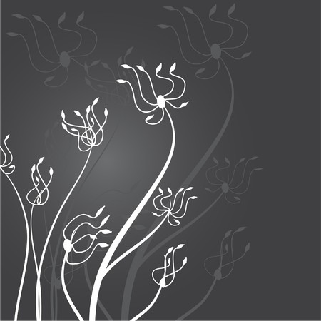 rnart: Grey flowers Illustration