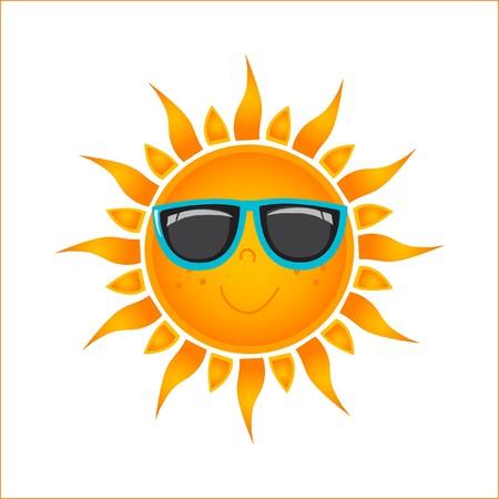 Sun pictogram  Vector Illustratie