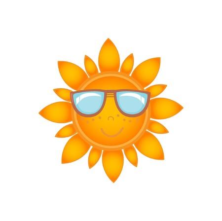 sun  glasses: Sun icon Illustration