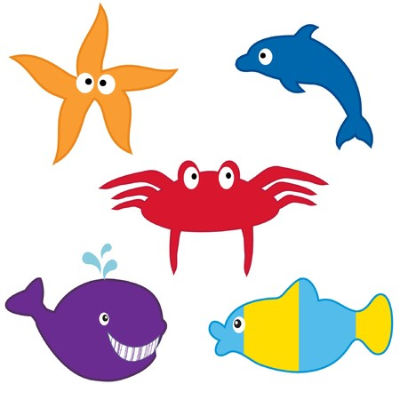 rnanimal: Life of fishes in sea depths.
