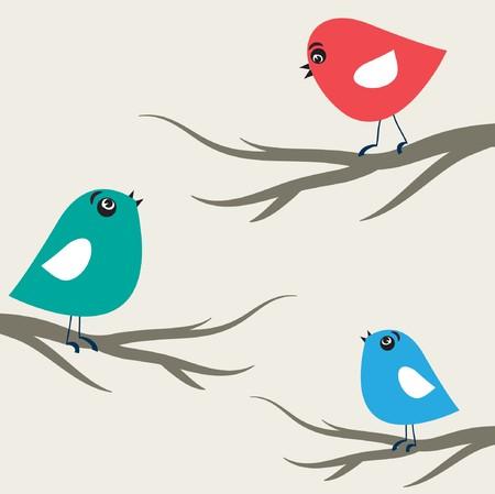 bird song: Birds on the tree Illustration
