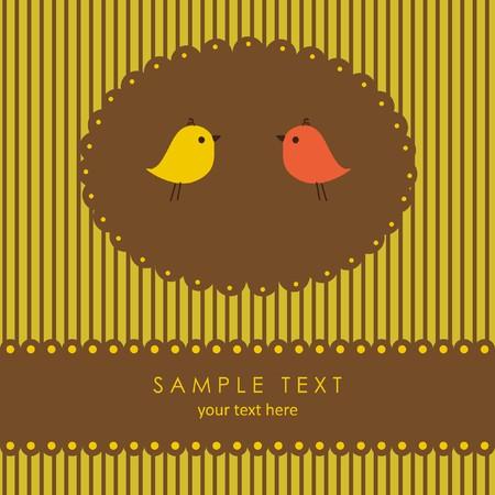 love song: Birds couple in love