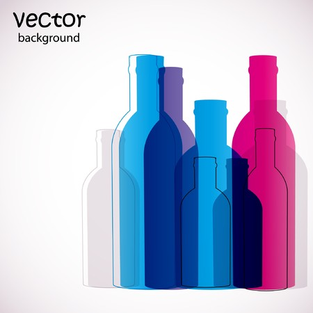 Colorful bottles Stock Vector - 7705506