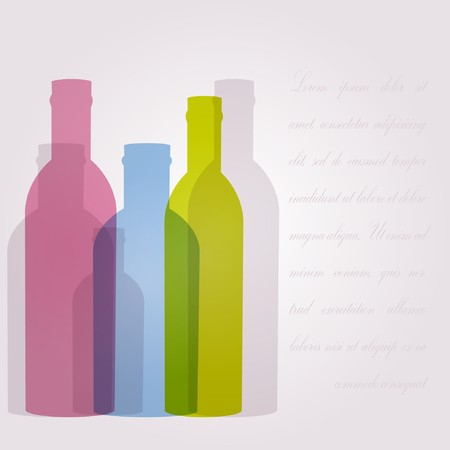 rnabstract: Abstract background with glass bottles