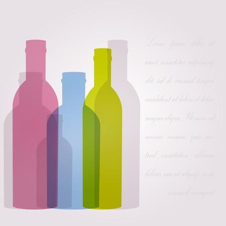 Résumé de fond avec des bouteilles en verre