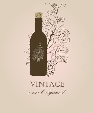 french label: Fondo Vintage  Vectores