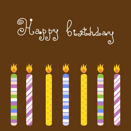 Birthday card   Stock Vector - 7705808