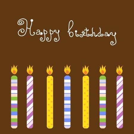 honey cake: Birthday card   Illustration