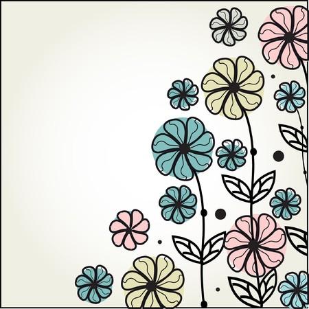 weddingrn: Floral card in retro style