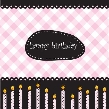 enchanting: Birthday card Illustration