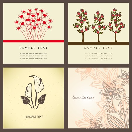 Floral card in retro style Vector