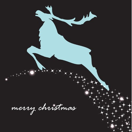 Holiday background with christmas reindeer  Vector