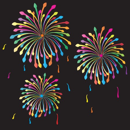 holiday display: Fireworks.   background