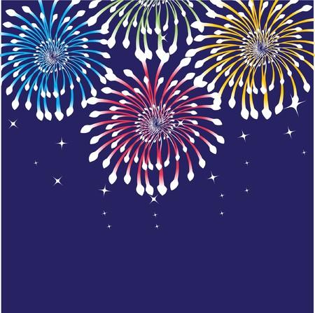 Fireworks.   background  Vector