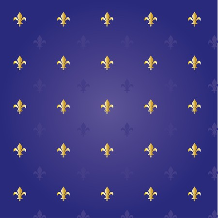 Fleur de lis royal background  Vector