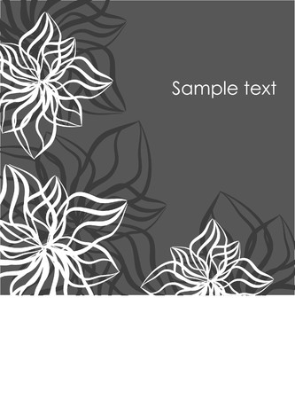 rnart: Vintage floral card with place for text.