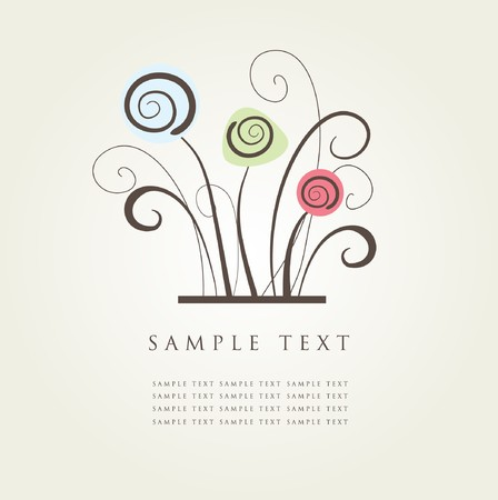 Abstract floral background.  Illustration