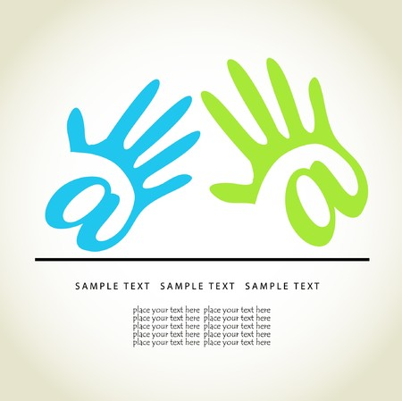 Colored hands.   concept Stock Vector - 7705617