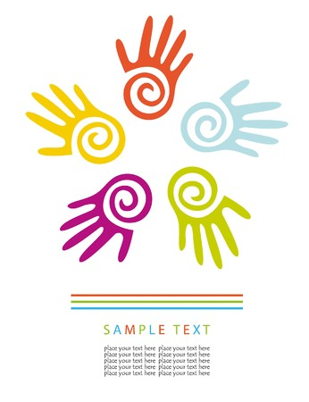 Colored hands.  concept Stock Vector - 7705618