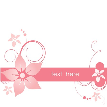 weddingrn: Pink abstract flowers  Illustration
