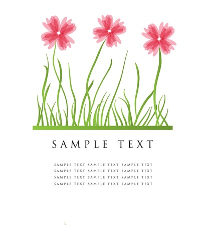 Abstract background with pink flowers
