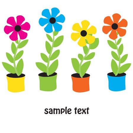 Flower pots Stock Vector - 7705862