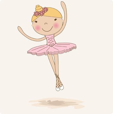 ballerina silhouette: Small ballerina