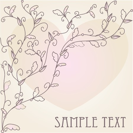 Hand drawn background for valentine`s card Stock Photo - 7763583