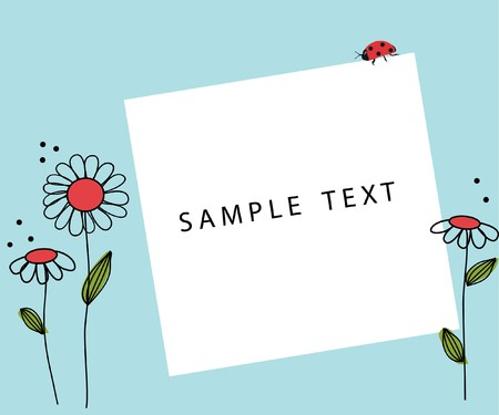 personalize: Retro floral card  Stock Photo