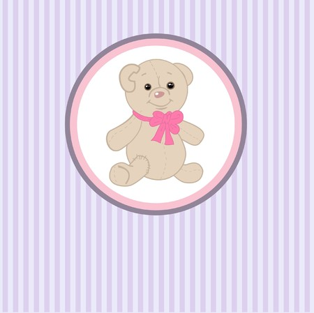 whitern: Cute teddy bear with patch.  Stock Photo