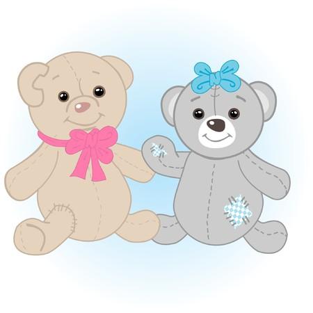 Bears couple.  photo