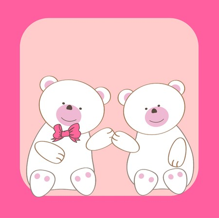 Bears couple.  Stock Photo - 7838989