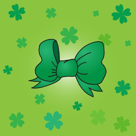 St. Patrick background with green bow. Stock Photo - 7838837