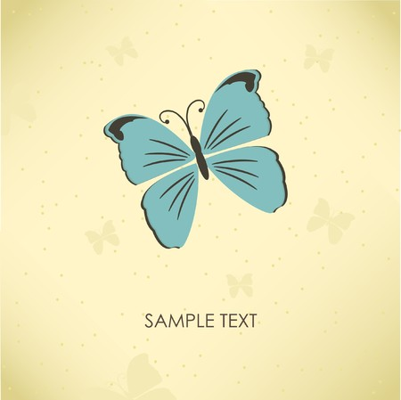 vintagern: Vintage greeting card with butterfly