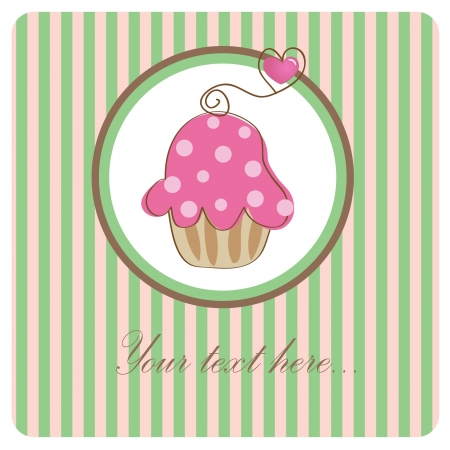 誕生日カップケーキ。 写真素材