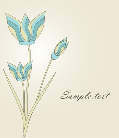 Floral card  photo