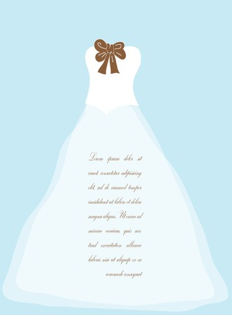 detail invitation: Wedding background with dress