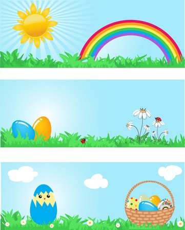 passover and easter chick: Easter banners.