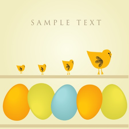 rnanimal: Easter card with hen and eggs.