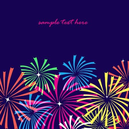 Fireworks on dark background.