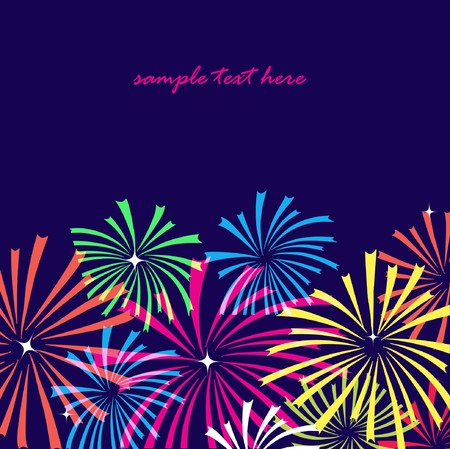 Fireworks on dark background. Stock Photo - 7839140