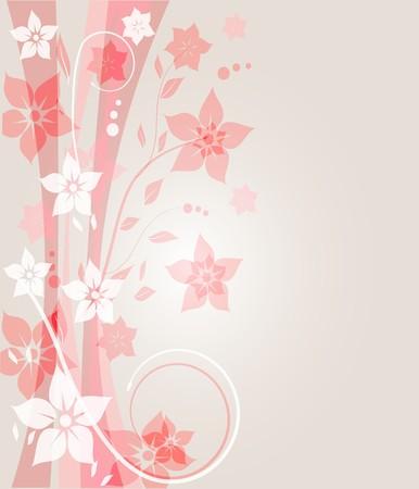 Vintage floral card. Stock Photo