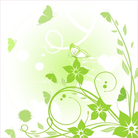 Floral card.  illustration.  Banco de Imagens