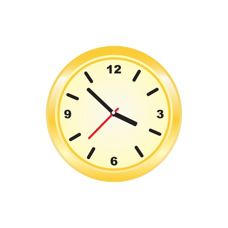 vectorrn: Golden clock,  illustration. Stock Photo