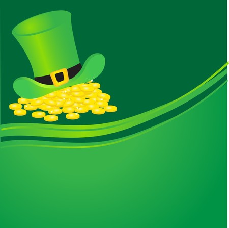 Leprechauns hat and gold coins. Stock Photo - 7792280