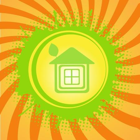 Green ecology house.   photo
