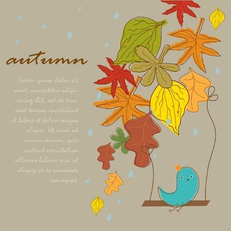 wallpaperrn: Seamless autumn background  Stock Photo