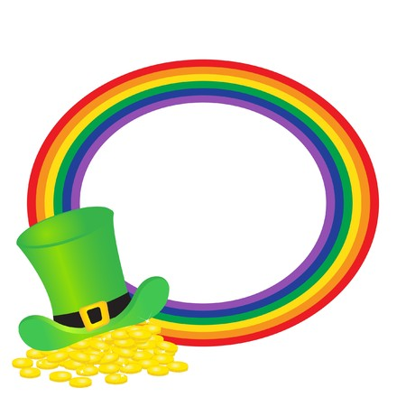 Rainbow frame with green hat Stock Photo - 7763775